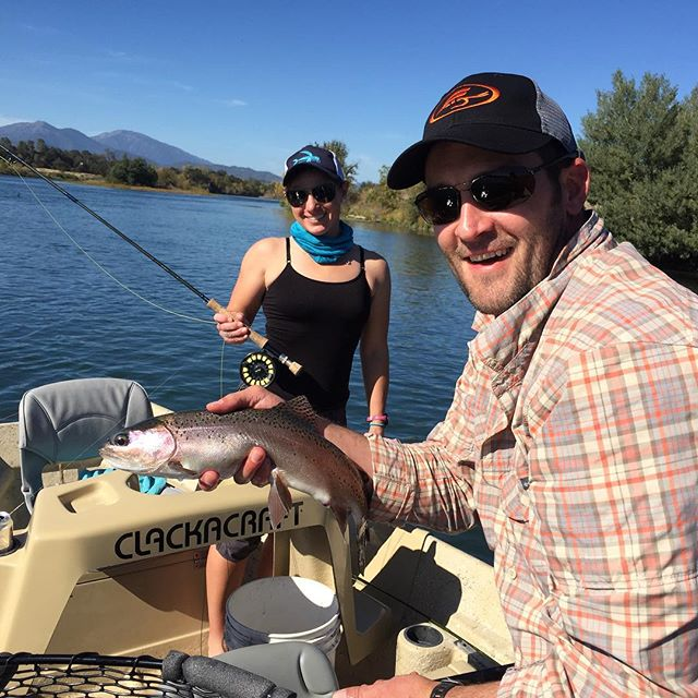 Awesome day on the Lower Sac today with return clients and friends Justin and @mfullert . Good times were had by all!!!#alpineflyfishing #watchoutforthesalmon #diduburst #wildtrout #2eggomlette #istheanchorup #guidedflyfishing #ourdaywasbetterthanyours #letitmarinate  #sageflyfish #redington #maketheconnection #stripfaster #thinkitwasariverotter