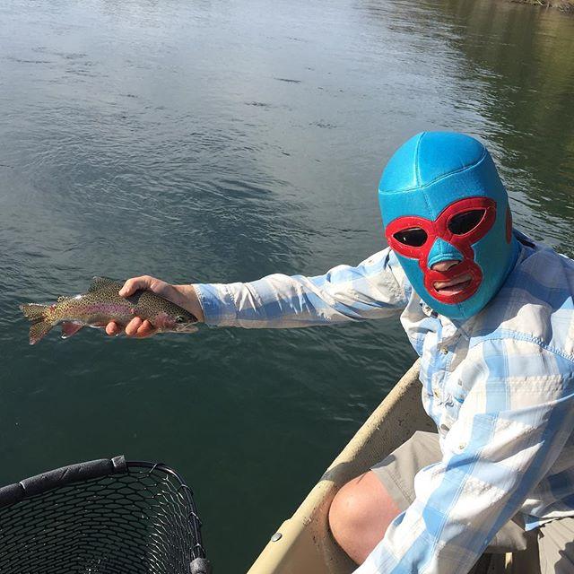 We had nacho libre in the boat last week… #tahoetroutsyndicate #thegoodlife #alpineflyfishing #flyfishing #catchandrelease #wildtrout #clackacraft #sageflyfish #redington #maketheconnection