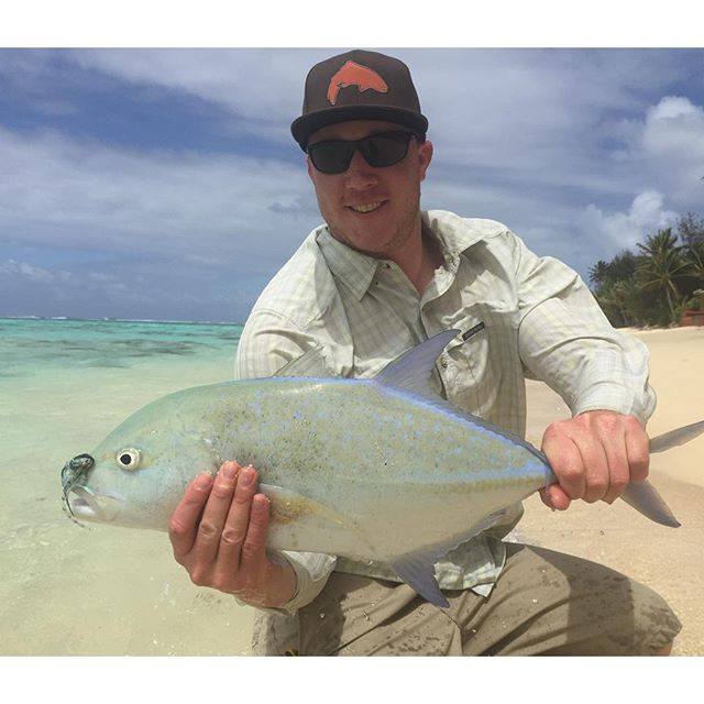 My consolation prize after getting spanked by monstrous GT's all week! Missing tropical Christmas @cookislands this year! #flyfishing #alpineflyfishing #saltwater #catchandrelease #tropicalchristmas #vacation