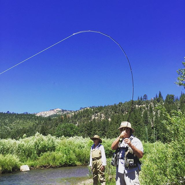 John and his wife Debbie came out with us for a weekend of fun and fish. Lots of smiles and bent rods ! #sierras #sageflyfish #redington #alpineflyfishing #tahoetroutsyndicate #wildplaces #dryflyfishing #simmsfishing #flyfishing