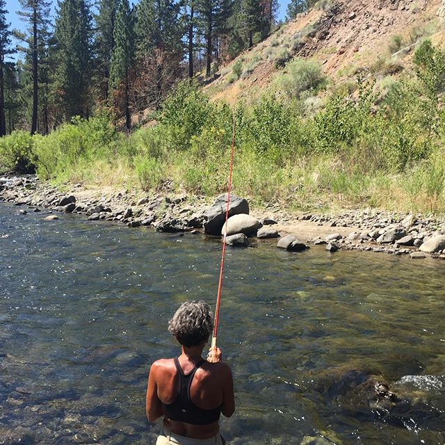 Good friend and client Joey put a hurting on the Carson today! #guidetrip #tahoetroutsyndicate #catchandrelease #alpineflyfishing #flyfishing #dryfly #dogdaysofsummer