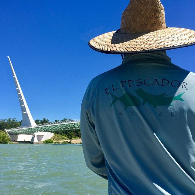 Awesome day on the Lower Sac . Doing some scouting for the inaugural Gabe Duran Memorial tournament with @casthope … @brassee here focused on the task at hand . Good times with @pbm925 , @jasonragno and hookem hecky. Shout out to our friends @elpescadorbelize !!!#scottflyrods #tahoetroutsyndicate #alpineflyfishing #catchandrelease #hitormiss #myshoulderhurts #thosedontworkhere #wildtrout #clackacraft #itsswimmingsideways #stripfaster #slayfest #tryharderEd