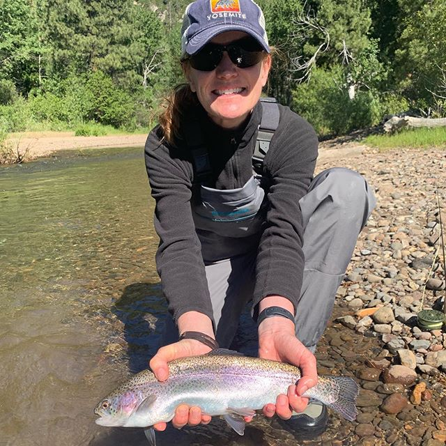 Fun day at the pig farm! Even found us a little #brooktrout #guidedflyfishing #rainbowtrout #seewhatsoutthere #eastsideplayers