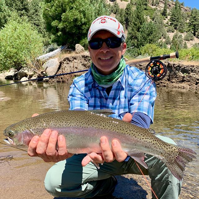 Slayfest in the valley today on a trip for @mattheronflyfishing ! Super fun family trip … Always stoked to get the father son combo on fish together! ••••#alpineflyfishing #mattheronflyfishing #scottflyrods #simmsflyfishing #seewhatsoutthere #catchandrelease #flyfishing #fishca #laketahoe #tahoesnaps #sierra #dryflyfishing #familygoals #fishpondusa