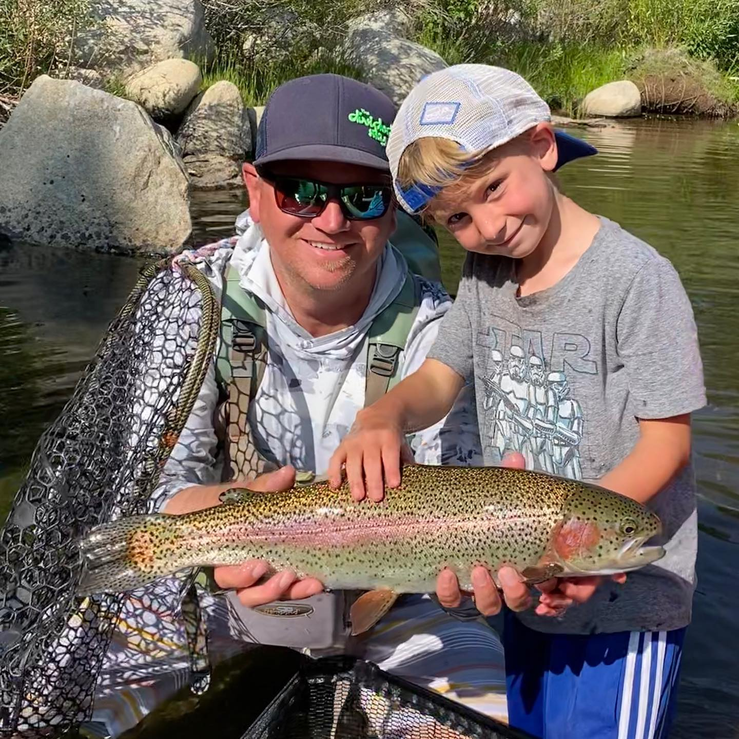 Had a day off and got Walker and his fishing buddy Cole out for an afternoon session … The boys crushed it ! Team work makes the dream work 🤙🏼!Not bad for a few 6 yr olds!#alpineflyfishing #kidsfishing #scottflyrods #seewhatsoutthere #getoutside #takeakidfishing #fishca #catchandrelease #boyswillbeboys #fishpondusa #simmsfishing #flyfishing #sierranevada #dadlife
